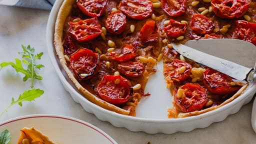 Tarte Fine A L Oignon Et A La Tomate Recette Par Nina Crazy