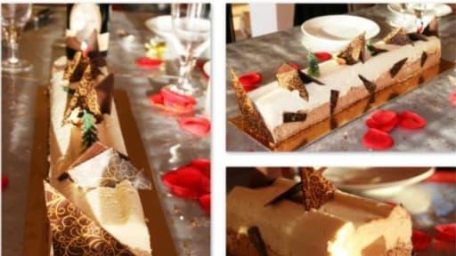 Buche Aux Deux Chocolats Et Caramel Beurre Sale Recette Par