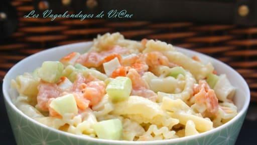Salade De Pates Saumon Surimi Concombre Recette Par Les
