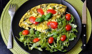 omelette jambon de parme et brocolis