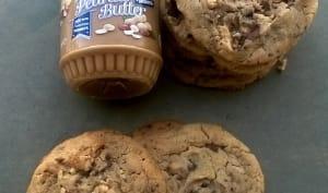 Cookies au chocolat au lait et beurre de cacahuètes