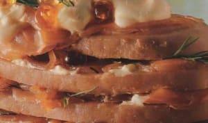 Mille-feuilles de saumon fumé à la pomme de terre roseval