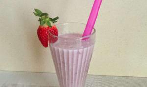 Milkshake fraises bananes