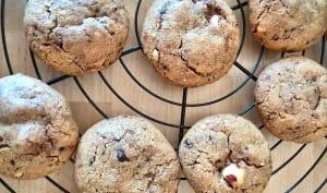Cookies chocolat noisette café