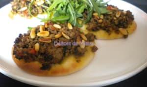 Pizzas libanaises à la viande - Lahm bi ajin