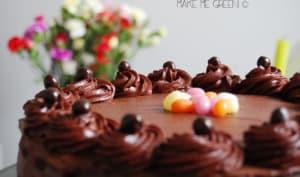Gâteau chocolat et framboise