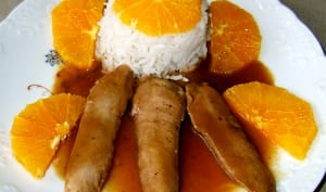 Aiguillettes de canard à l'orange