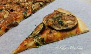 Pizza à l'aubergine basilic