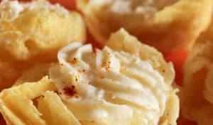 Panier de parmesan, chantilly de parmesan au piment d'espelette