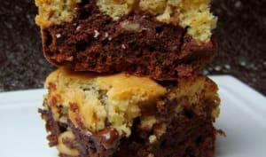 Browkies au trois chocolats, cacahuètes et noix