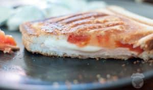 Croque poulet tomate mozza