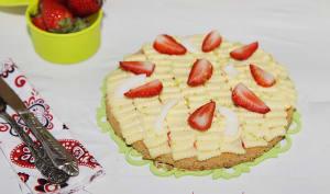 Tarte citron, fraises et noix de coco