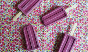 Popsicles mûre vanille