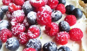 Tarte au mascarpone et aux fruits des bois