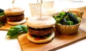 Burger vegan au pesto et ketchup maison
