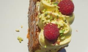 Mille-feuille pistache framboises