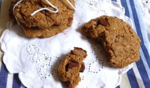 Cookies à la caroube et chocolat noir