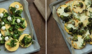 Polenta grillée aux brocolis