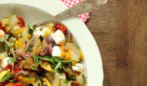 Salade estivale de légumes rôtis