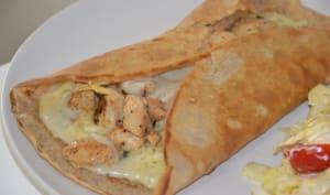 Crêpes salées poulet, champignon et béchamel