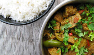 Curry de foie de veau aux poivrons