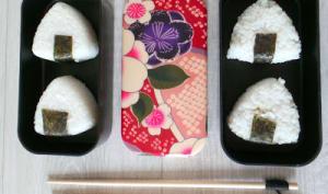 Onigiris au poulet sauce yakitori