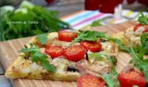 Pizza au thon, mozzarella marinée et fenouil confit