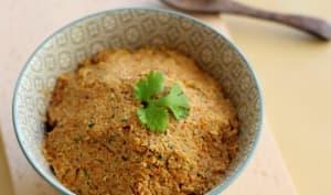 Pâté de carottes crues, noisettes et coriandre