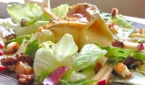 Salade normande pommes camembert