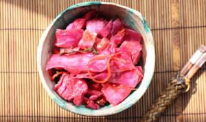 Kimchi de chou rouge de fin d'été