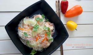 Salade vermicelles de riz aux crevettes