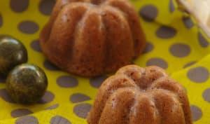 Muffins praliné coeur coulant à la poire