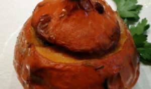 Potimarron au haddock et champignons des bois