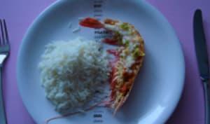 Cigale de mer sauce chien et riz basmati.