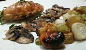 Suprême de poulet aux marrons et, autres légumes d'automne