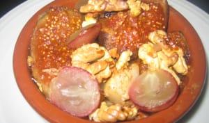 cassolette de fruits d'automne au miel et à la cannelle