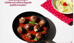 Boulettes coeur mozzarella et spaghetti de courgette