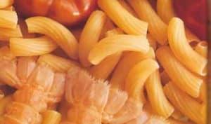 Langoustines aux stortini, poivron rouge et sarriette