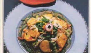 Rouelles de homard en nid d'herbes