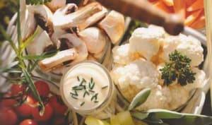 Grenadins de veau, braisés au lait sur crème de légumes ciboulettée