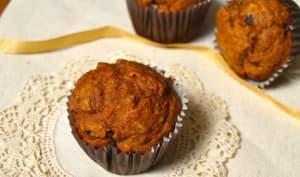 Muffins vegan au butternut, cannelle, orange et pépites de cacao cru