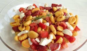 Salade tiède de gnocchis au chorizo