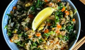 Mon riz sauté au kale