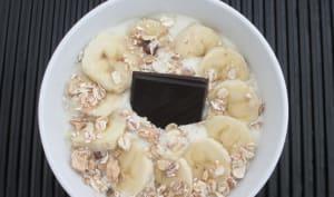 Smoothie bowl chocolat banane amande