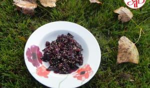 Chou rouge aux raisins secs et aux sésames