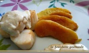 Poêlée de Saint-Jacques au cidre et cabécou