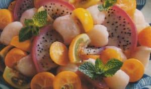 Farandole exotique au jus de lime, arôme de gin