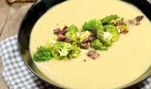 Soupe au chou, brocoli brûlé