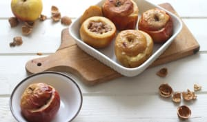 Pommes farcies aux noix, pommes et calva