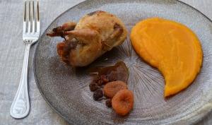 Caille farcie à l'orange et pain d'épice